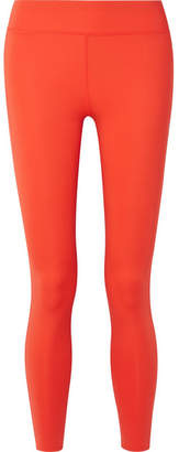 Calvin Klein (カルバン クライン) - Calvin Klein - Printed Two-tone Stretch Leggings - Bright orange