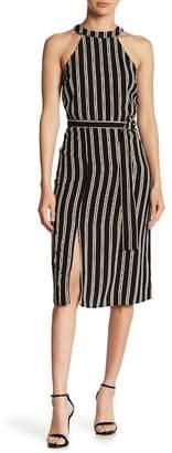 Moon River Stripe Midi Dress