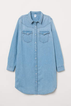 H&M Denim Shirt Dress - Blue