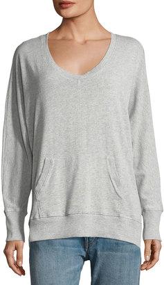Allen Allen U-Neck Pullover Sweater with Kangaroo Pocket $75 thestylecure.com