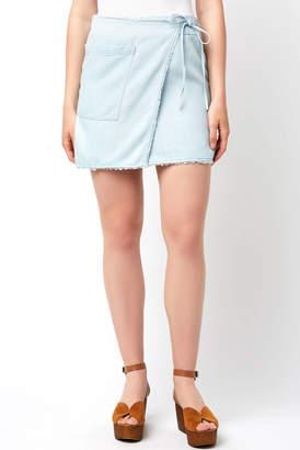 Splendid Faux Wrap Tencel Skirt