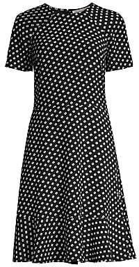 MICHAEL Michael Kors Women's Geometric Print Short-Sleeve Raglan A-Line Dress - Size 0
