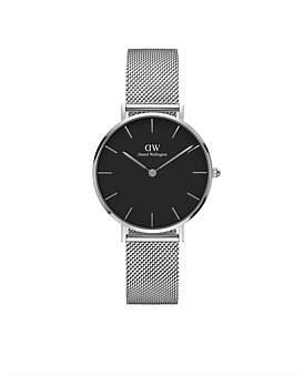 Daniel Wellington Classic Petite Watches - Black Dial 32Mm