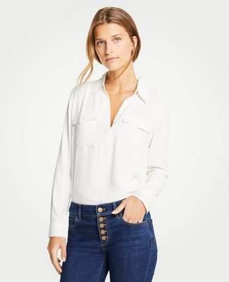Ann Taylor Slim Camp Shirt