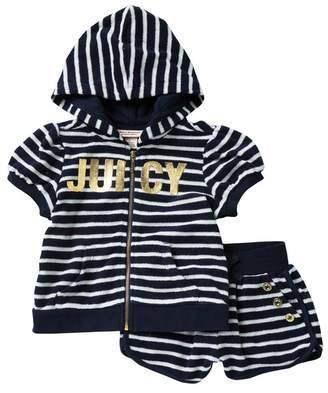 Juicy Couture Hoodie & Shorts 2-Piece Set (Little Girls)