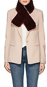 Barneys New York Women's Rabbit Fur Pull-Through Scarf - Md. Red