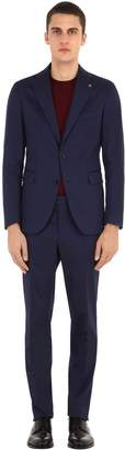 Tagliatore Stretch Cotton Gabardine Suit