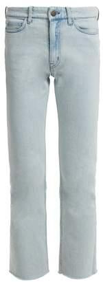 M.i.h Jeans - Niki High Rise Slim Leg Cropped Jeans - Womens - Light Blue