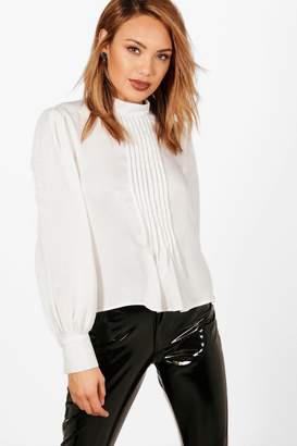 boohoo Alicia Tuxedo Shirt Blouse