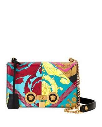 6e2d6342291 Versace Icon Voyage Medium Barocco Leather Shoulder Bag with Medusa Studs