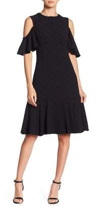 Nanette Lepore Sweet Nothing Cold Shoulder Lace Dress