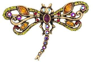 Jay Strongwater Crystal Dragonfly Pin