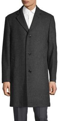 London Fog Wool-Blend Overcoat