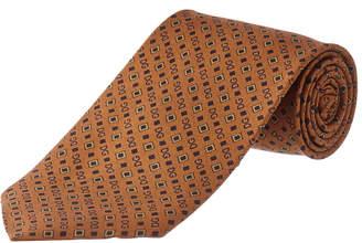 Dolce & Gabbana Brown & Black Logo Silk Tie