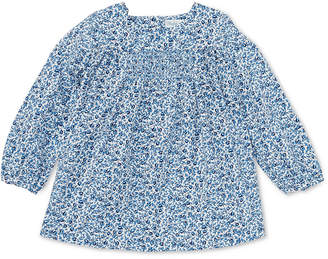 Polo Ralph Lauren Ralph Lauren Baby Girls Smocked Floral Cotton Top
