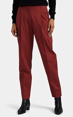 Co Women's Pleated High-Rise Tapered-Leg Trousers - Red