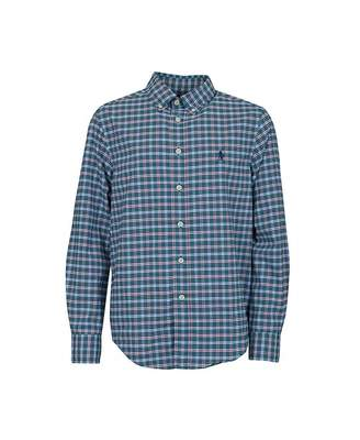 Polo Ralph Lauren Childrenswear Small Grid Checked Shirt Colour: GREEN