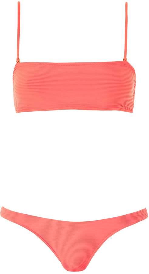 5cb53ccc51c81 Topshop Neon high leg bikini bottoms detail image
