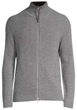 Rag & Bone Andrew Zippered Ribbed Sweater
