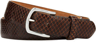 W.KLEINBERG W. Kleinberg Men's Anaconda Snakeskin Belt