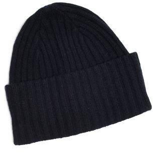 Drakes Drake's Brushed Merino Wool Hat Navy