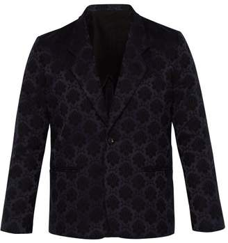 SASQUATCHfabrix. Nanpou Rapel Single Breasted Satin Jacquard Blazer - Mens - Navy Multi
