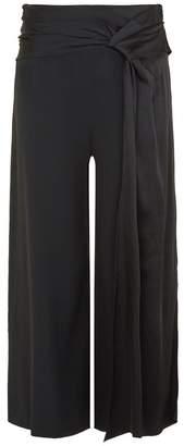 Jonathan Simkhai Drape Wide Leg Trousers