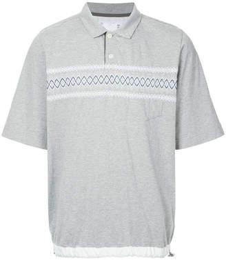 Sacai oversized polo shirt