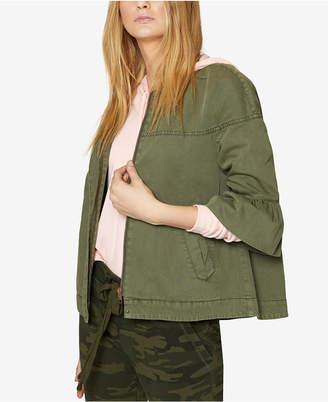 Sanctuary Cotton Ruffle-Cuff Jacket