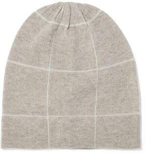 Madeleine Thompson Ross Checked Wool And Cashmere-Blend Beanie