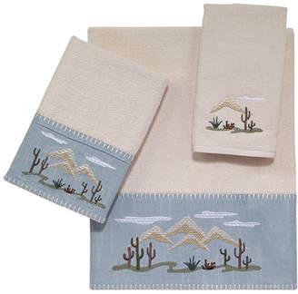 Avanti Cactus Landscape Embroidered Bath Towel Bedding