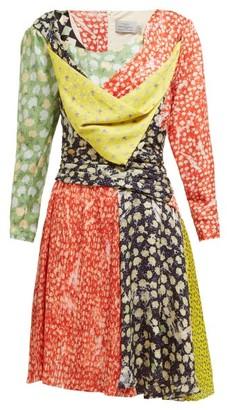 Preen by Thornton Bregazzi Adriana Floral Print Silk Blend Mini Dress - Womens - Multi