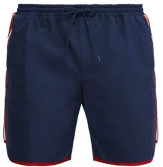 Gucci Tape Logo Swim Shorts - Mens - Blue Multi