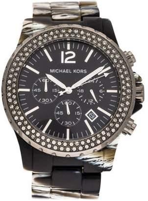 Michael Kors Madison Zebra Glitz Chronograph Watch black Madison Zebra Glitz Chronograph Watch