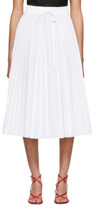 RED Valentino White Pleated Skirt