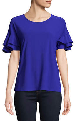 INC International Concepts Ruffle-Sleeve Top