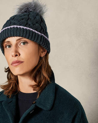 Ted Baker DEEDY Cable knit bobble hat