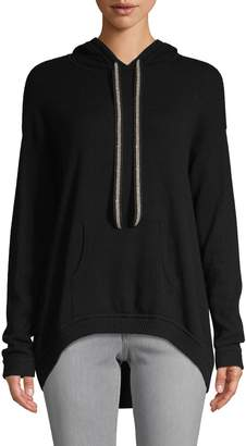 Minnie Rose Dropped-Shoulder Cashmere Hoodie
