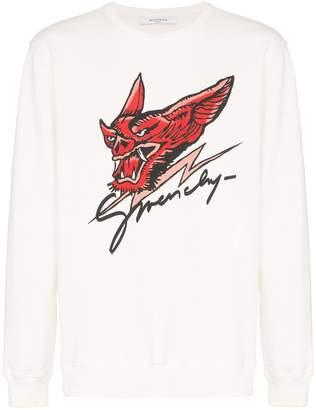 Givenchy dragon head logo print jumper