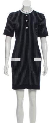 Chanel Pinstripe Knit Dress
