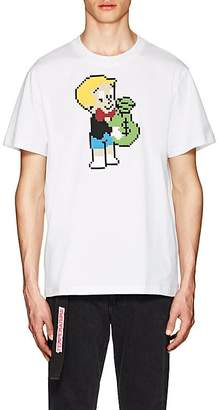 Mostly Heard Rarely Seen 8-Bit Men's Pixelated-Graphic Cotton T-Shirt
