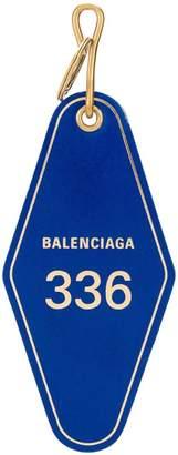Balenciaga Hotel tag keychain