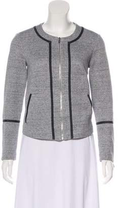 Elizabeth and James Collarless Zip-Up Jacket