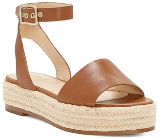 Vince Camuto Women's Kathalia Leather Platform Espadrille Sandals