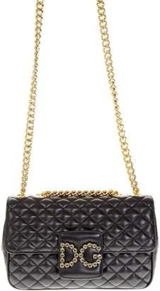 Dolce & Gabbana Millennials Black Quilted Leather Shoulder Bag
