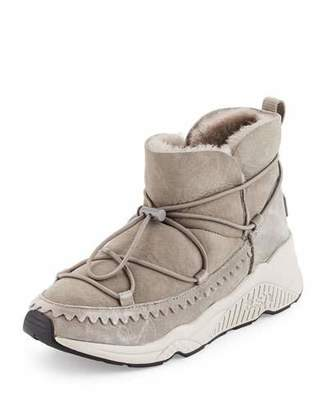 Ash Mitsouko Shearling Sneaker Bootie, Flanelle $228 thestylecure.com