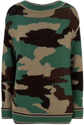 Burberry V-Back Camouflage Sweater