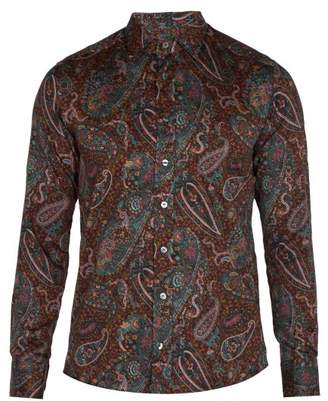 Etro Paisley Print Cotton Shirt - Mens - Multi