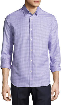 Neiman Marcus Tight-Circle Sport Shirt, Lilac/Purple