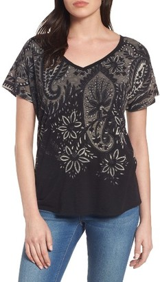 Women's Lucky Brand Big Paisley Top $39.50 thestylecure.com